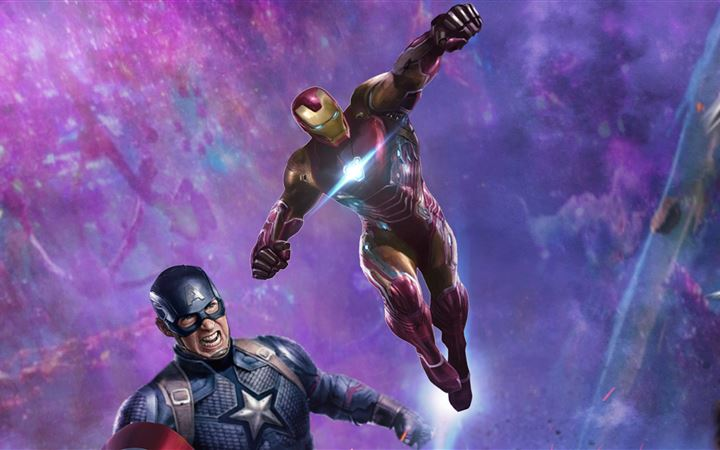 iron man and captain america in avengers end game MacBook Air wallpaper