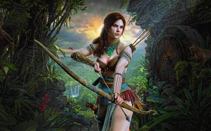 lara croft hunter girl 8k All Mac wallpaper