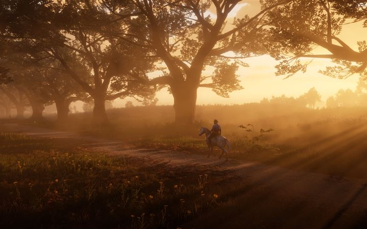 red dead redemption 2 the path 5k All Mac wallpaper