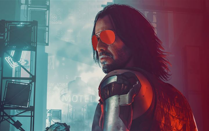 rockerboy johnny cyberpunk 2077 MacBook Air wallpaper