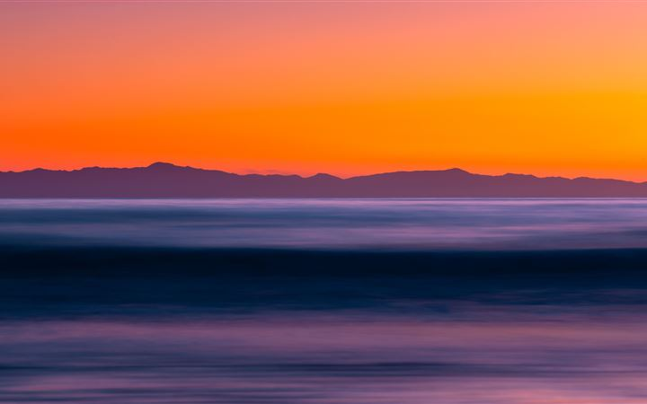 sea long exposure sunset 5k All Mac wallpaper