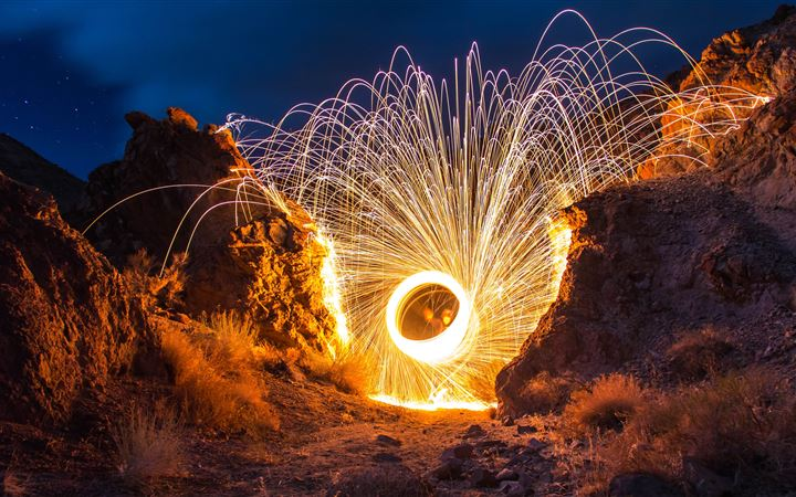 steelwool photography with between rocks All Mac wallpaper
