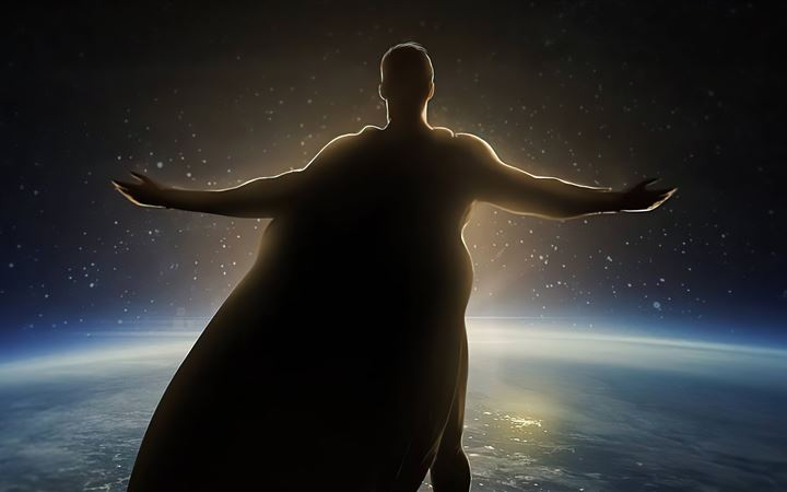 superman outside world 5k All Mac wallpaper