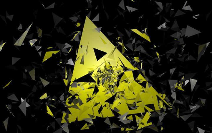 triangle broken glass abstract 5k All Mac wallpaper