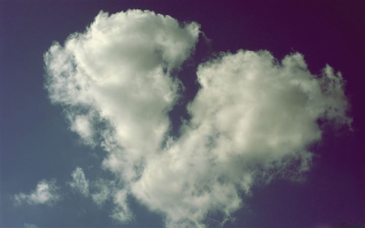 Broken Heart Shaped Cloud MacBook Pro wallpaper