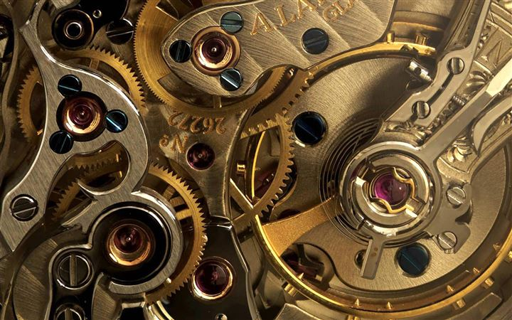 Golden Watch Gears MacBook Pro wallpaper