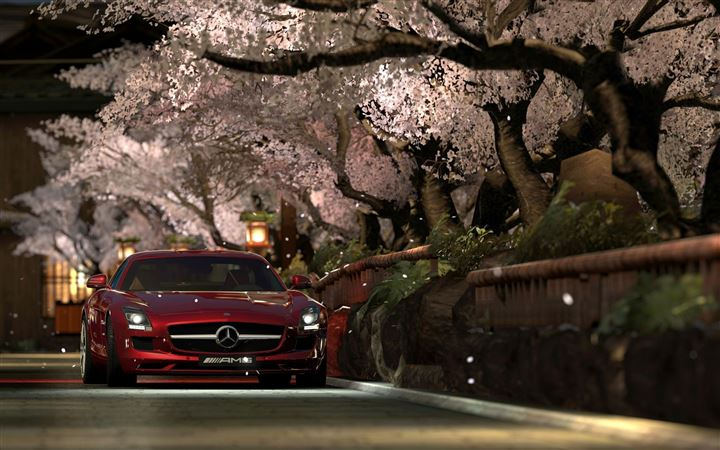 Mercedes Benz Sls Amg Red Night MacBook Pro wallpaper