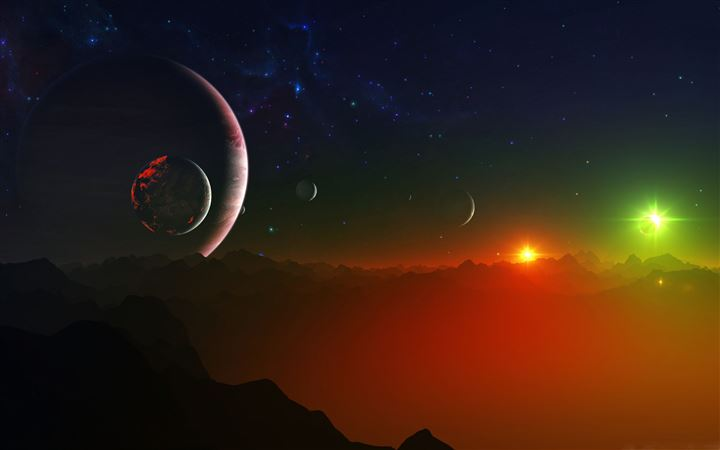 Space Fantasy Landscape MacBook Pro wallpaper