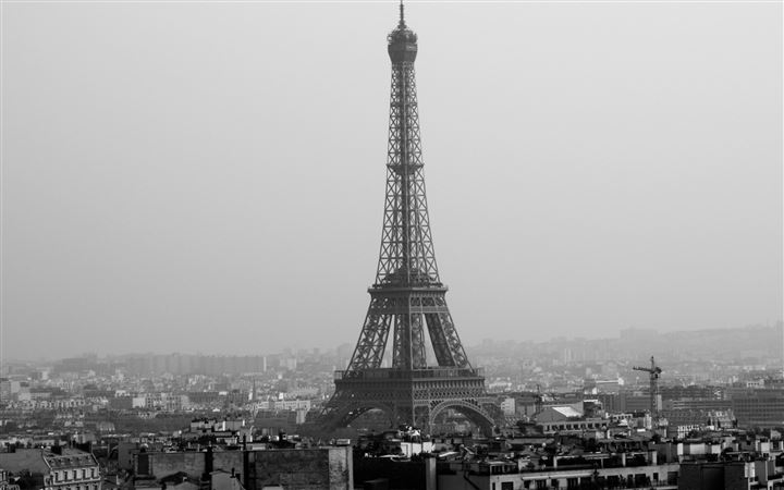 Tower Eiffel Black And White MacBook Pro wallpaper