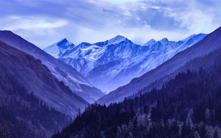 mountain range blue 5k MacBook Pro wallpaper