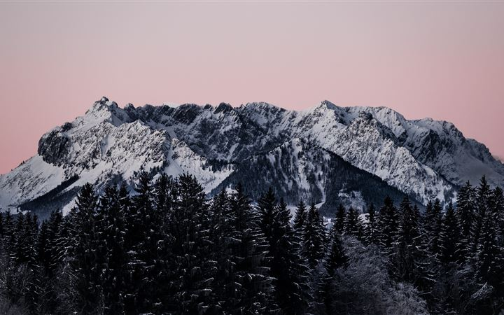 snow covered mountain during daytime MacBook Pro wallpaper