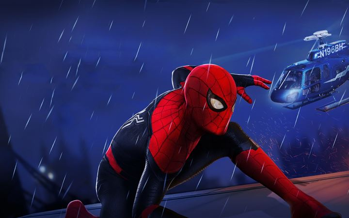 spiderman far from home movie 5k MacBook Pro wallpaper