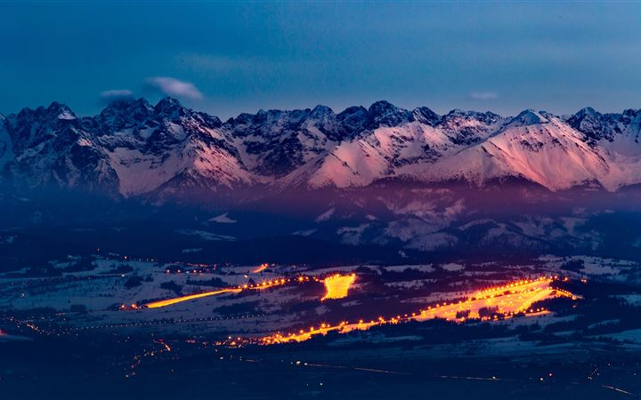 tatra mountains snowy 5k MacBook Pro wallpaper