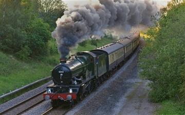 Steam Train England All Mac wallpaper