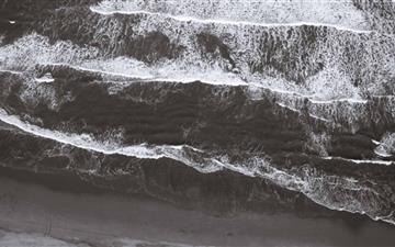 Drone Photography Beach Mac wallpaper