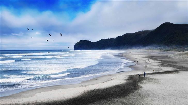 Piha Beach New Zealand Mac Wallpaper