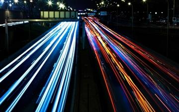 Highway Lights Mac wallpaper