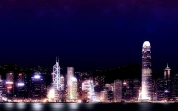 Hong Kong night Mac wallpaper