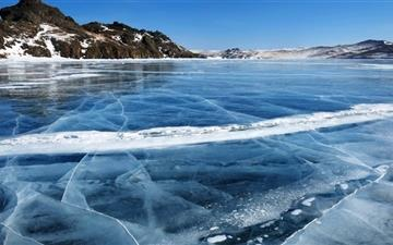 Baikal Lake Frozen Winter Mac wallpaper