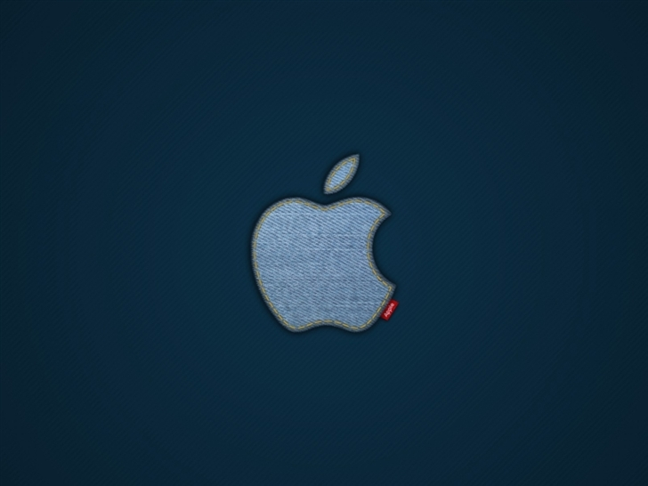 Apple Blue Jeans Logo Mac Wallpaper