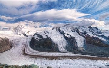 The Glaciers Of The Alps Mac wallpaper
