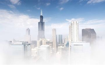 Chicago Fog All Mac wallpaper