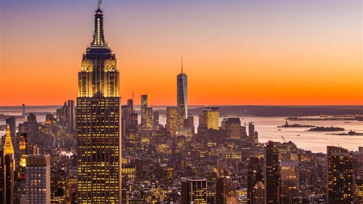 New York City Aerial View Mac Wallpaper