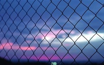 Fence Bokeh Mac wallpaper
