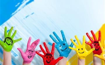 Happy Hands Mac wallpaper