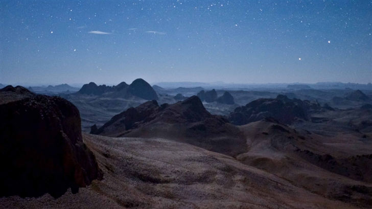 Panorama Of The Ahaggar Mountain Mac Wallpaper