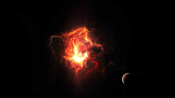 Red Explosion Mac Wallpaper