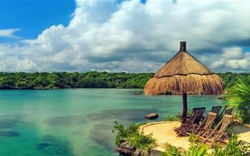 Tropical Coast Beautiful Water Mac wallpaper
