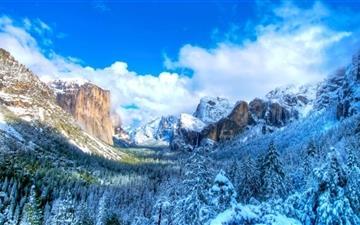 Yosemite Snow Snow Valley Mac wallpaper