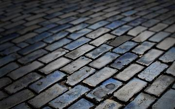 Dark floor Brick All Mac wallpaper