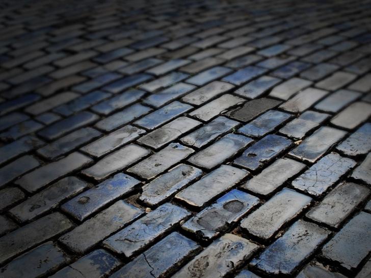 Dark floor Brick Mac Wallpaper