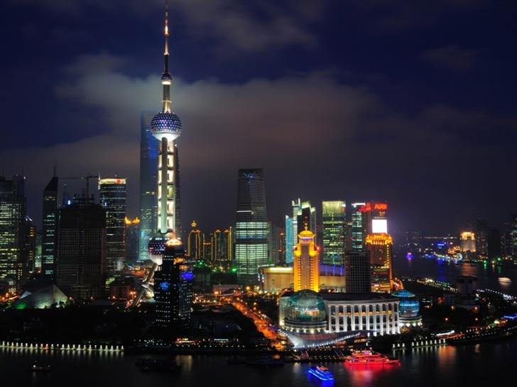 Shanghai Nights China Mac Wallpaper