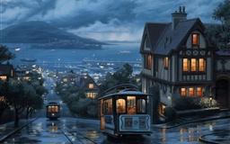 Rain Bus Boat