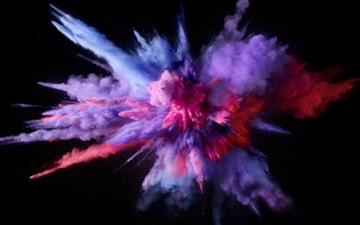 Purple Color Burst All Mac wallpaper