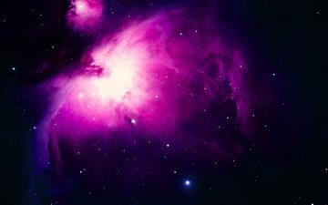 Purple Orion Nebula Mac wallpaper