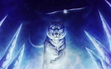 White Tiger Owl Art Mac wallpaper