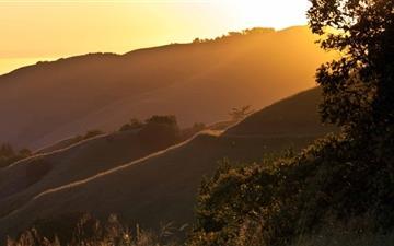 Sunset On Russian Ridge California Mac wallpaper