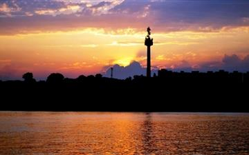 The Sunset Of City And Danube Mac wallpaper