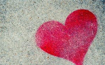 Heart Graffiti Mac wallpaper