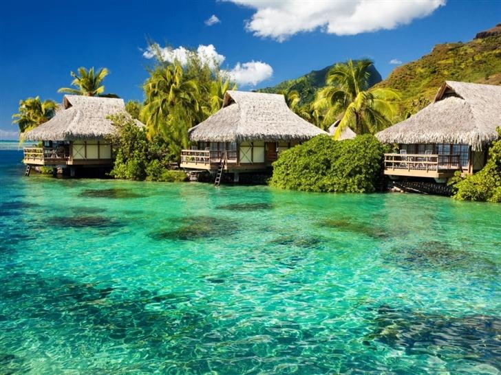 Tropical Resort Mac Wallpaper