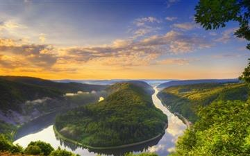 River Bend Panoramic View All Mac wallpaper