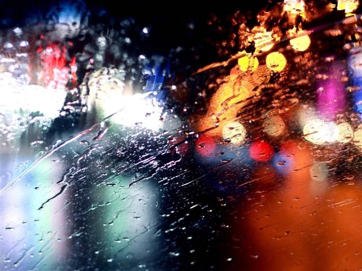 Rainy Windshield Mac Wallpaper