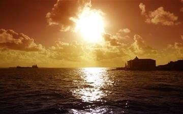 Sunset At Salvador Mac wallpaper