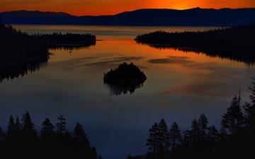 Lake Island Mac wallpaper