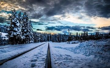 Railroad Winter All Mac wallpaper