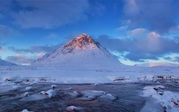 Buachaille Etive Mor Mountain Winter All Mac wallpaper
